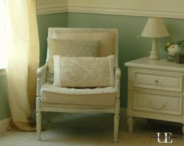 Reupholstered Nursery Chair