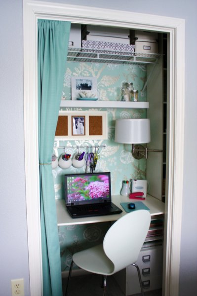 Office closet design Door 25 Clever Closet Offices 2017seasonsinfo Remodelaholic 25 Clever Closet Offices