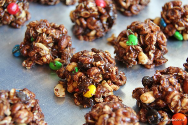 No-Bake Trail Mix Cookies