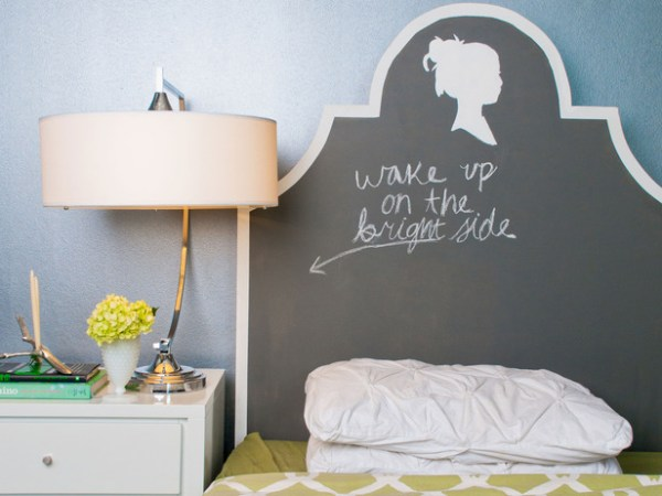 Silhouette and Chalkboard Headboard