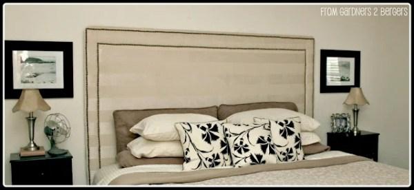 Upholstered Nailhead Trim Headboard