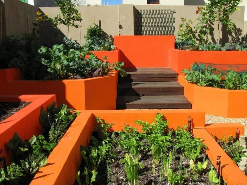 Bold Orange Edible Garden