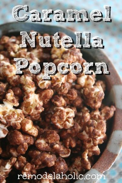 Caramel Nutella Popcorn
