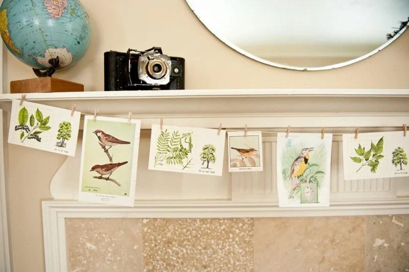 Spring Bird Note Card Garland