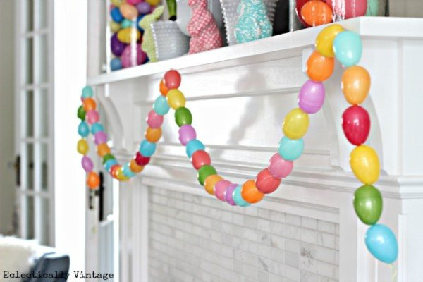 Bright Easter Egg Mantel