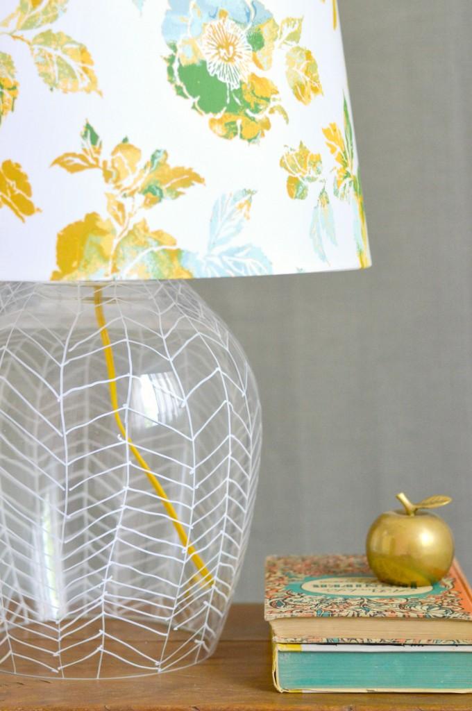 Paint Pen Herringbone Lamp