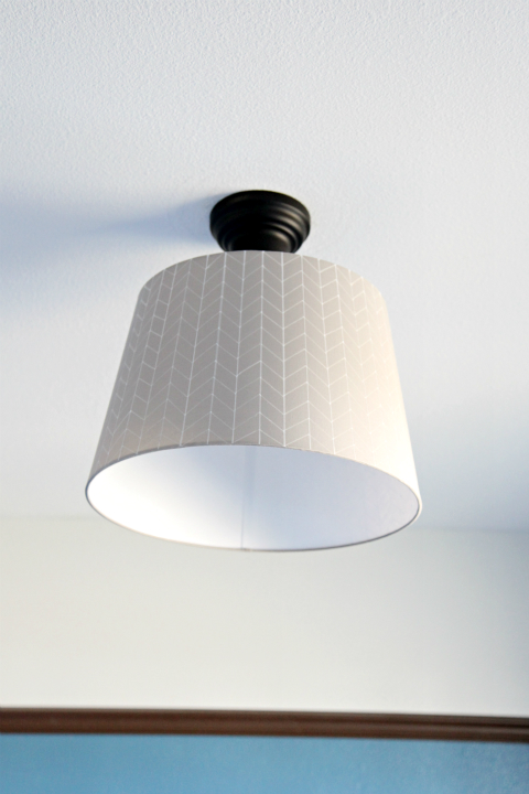 Herringbone Drum Light