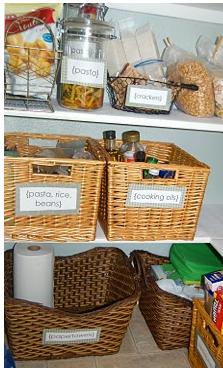 Organizing the Pantry Using Baskets