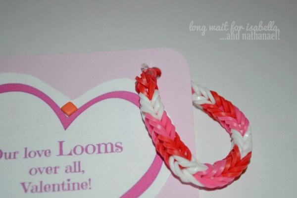 Our love LOOMS over all printable valentine tag