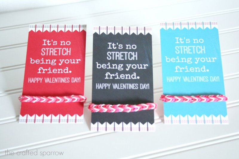 It's no STRETCH being your friend valentines tag