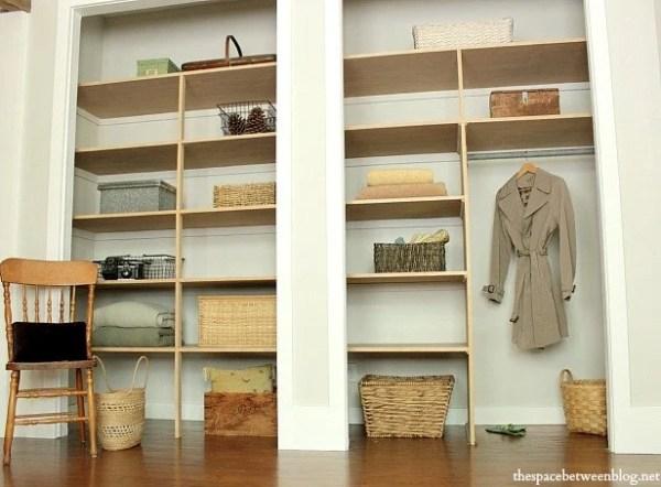 Wall to wall closet shelves