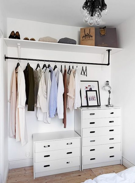 Industrial style open closet