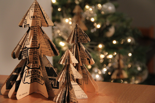 Christmas Tree Book Sculptures