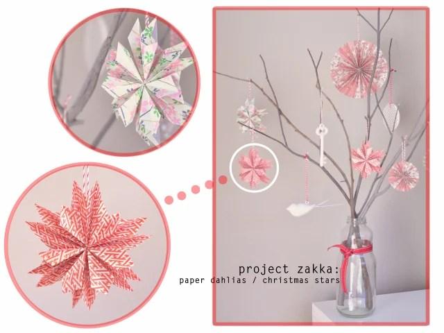 Paper Dahlia/Christmas Stars
