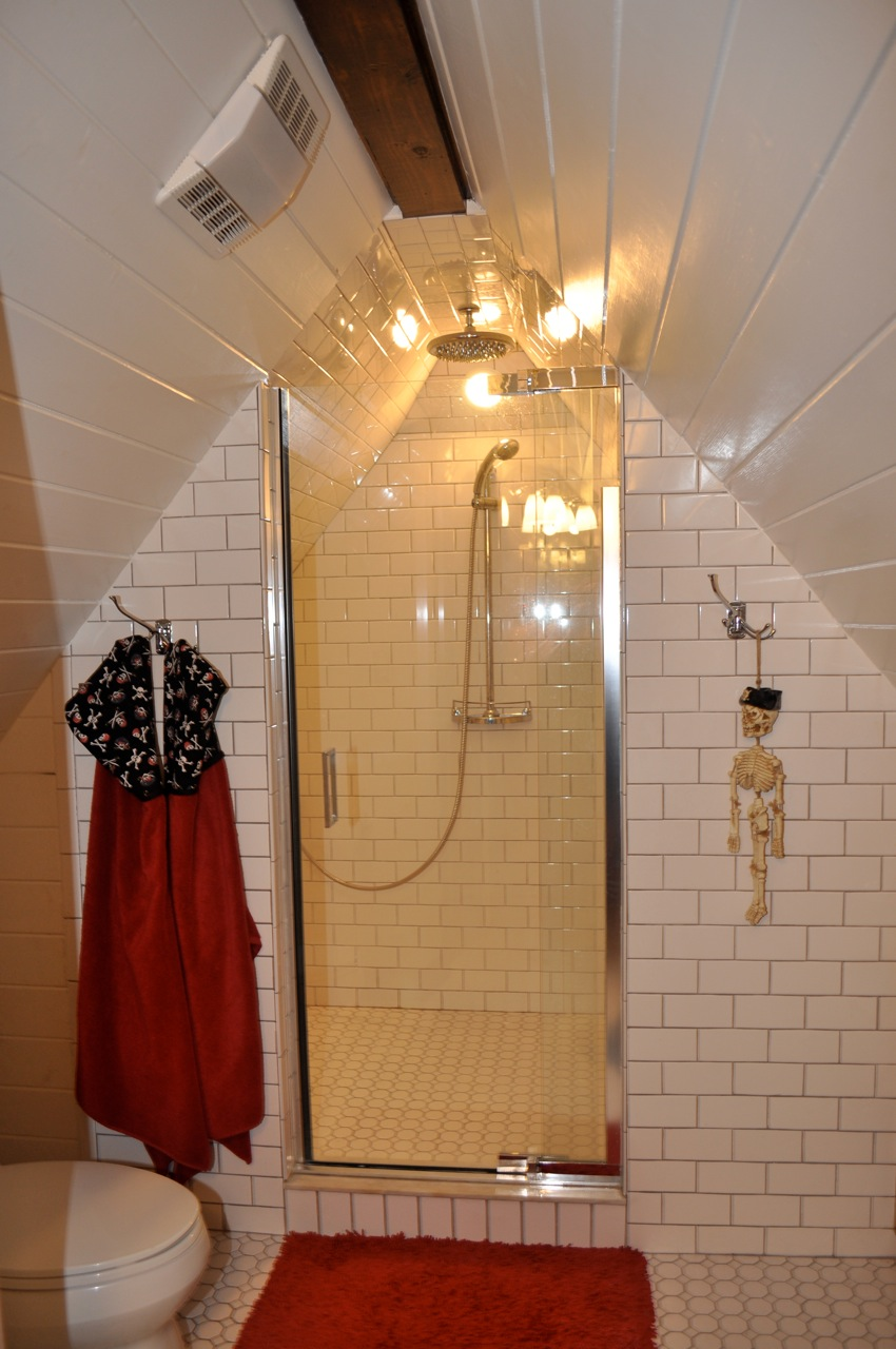 Subway Tiled Bathroom and Boy's Bedroom