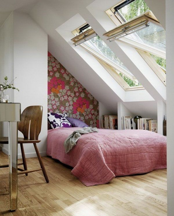 Bright Wallpapered Bedroom