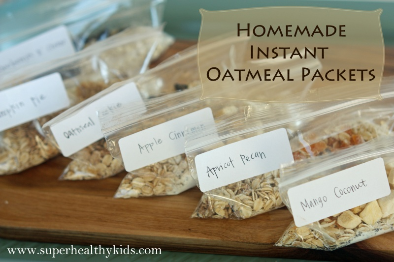 Homemade Instant Oatmeal Packet