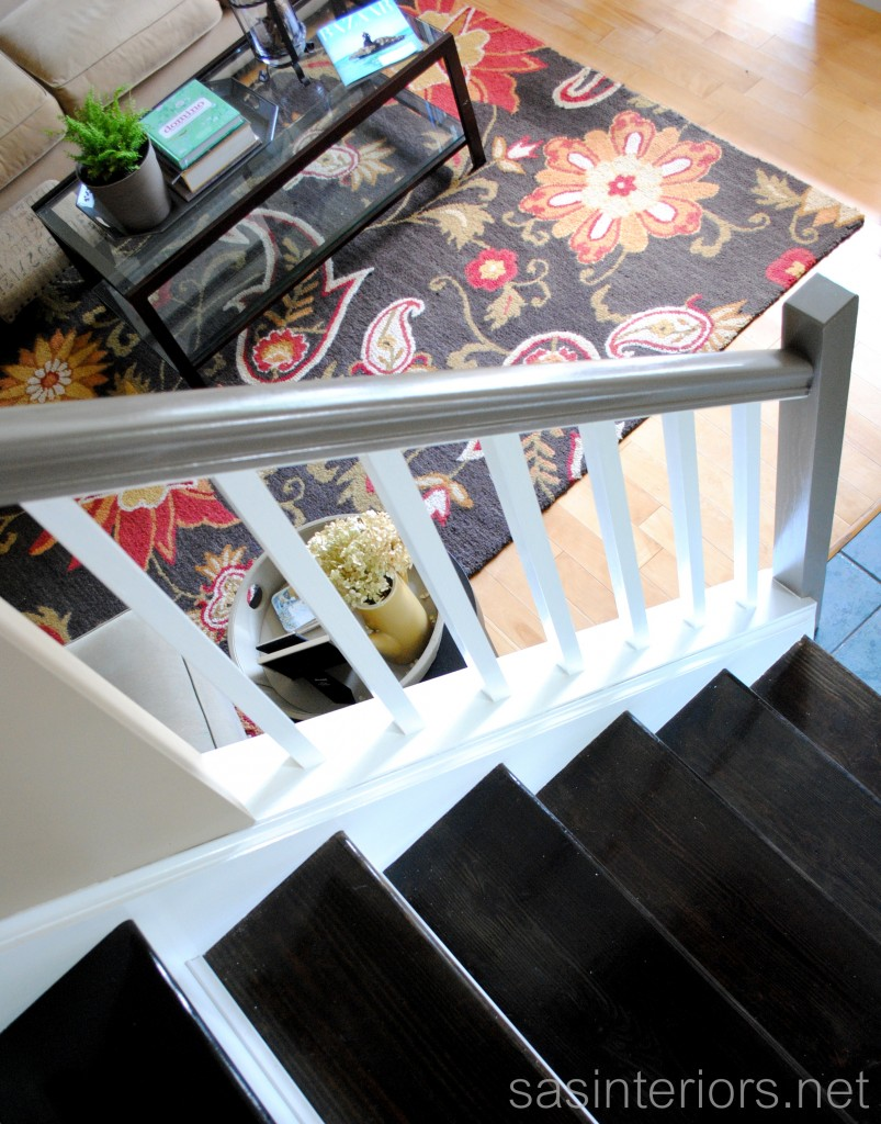 Carpet To Ebony-Stained Wood Stairs