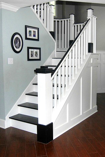 Painted Wooden Stair Remodel