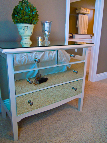 how to make a mirrored dresser from an old dresser tutorial (6)