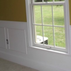 Living Room Outlet Window Treatments For Formal Remodelaholic | Simple Picture Frame Wainscoting; Guest