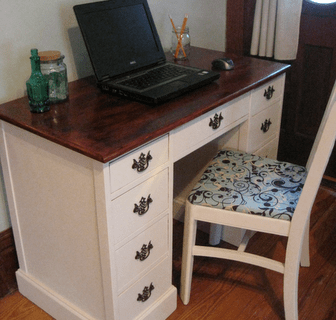 old writers desk and chair revamp