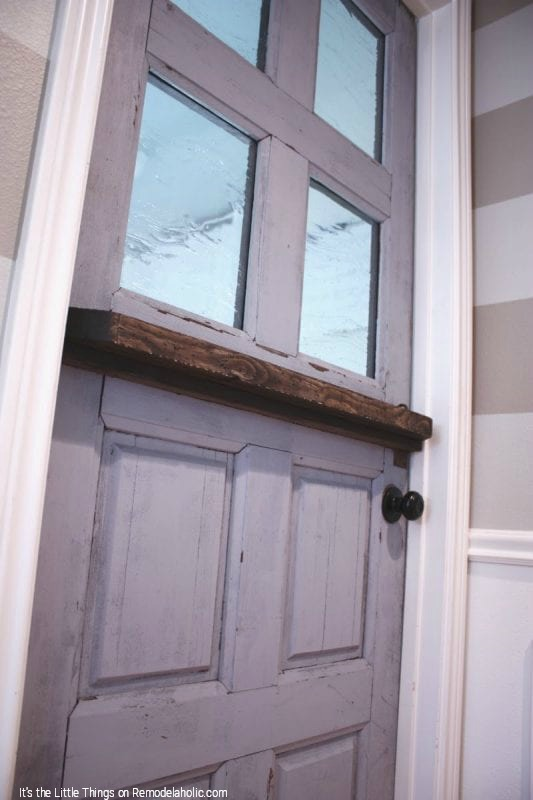 DIY Dutch Door With Added Glass Panels By Its The Little Things Featured On @Remodelaholic 533x800