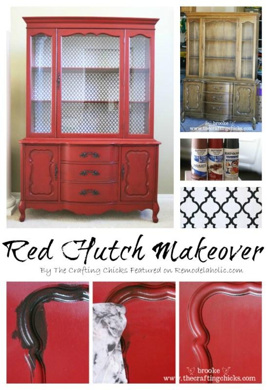 Hutch Makeover step by step2