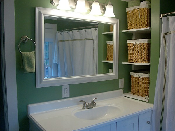 6 Bedroom to Bathroom, Simple fixtures make a great bathroom for cheap, by Newly Woodwards featured on @Remodelaholic.com