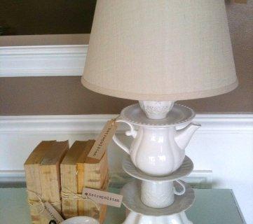 DIY Dish Lamp Tutorial