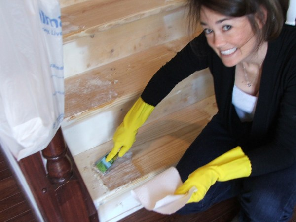 15 How To Prep Wooded Stairs For Painting, By Cleverly Inspired, Featured On @Remodelaholic