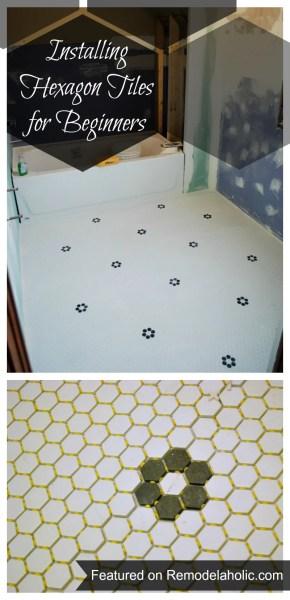 20140510-Installing Hexagon Tiles for Beginners #tips #tiling #hexagon