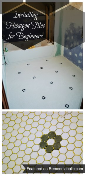 20140510-Installing Hexagon Tiles for Beginners #tips #tiling #hexagon