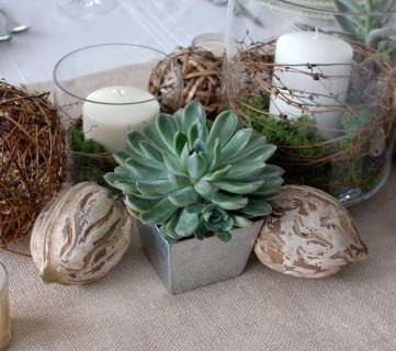 beautiful natural tablescape by 33 shades of green
