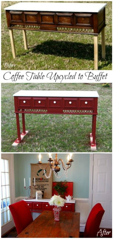Coffee Table Updated to Buffet