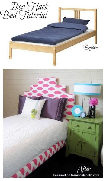 Ikea Hack Upholstered Bed Tutorial