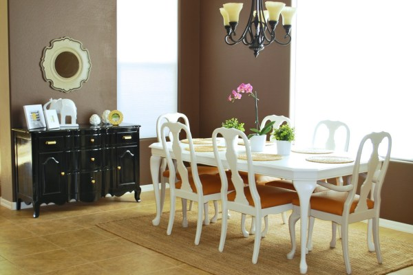 Refinished Dining Room Table and Chair Re-upholstery Tutorial (1)