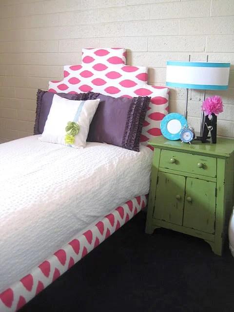 little girls upholstered bed