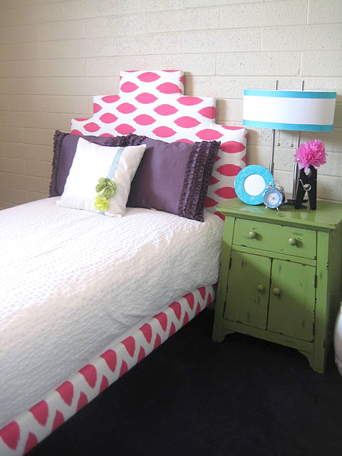 little girls upholstered bed