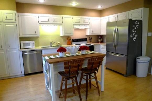 ikea kitchen bar making cabinet doors remodelaholic new island