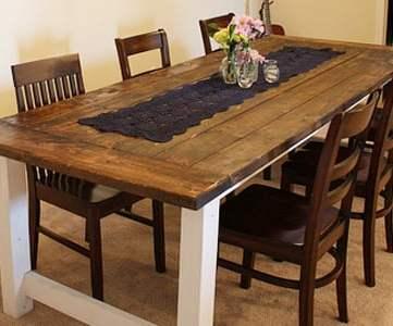 Beautiful Farmhouse Dining Table