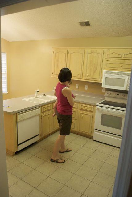 kitchen remodel black base cabinets bead baord backsplash open shelves dining room makeover (1)