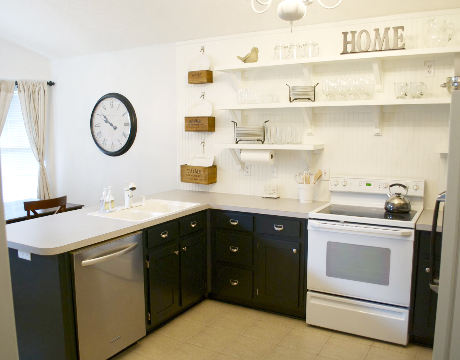 How To Have Open Shelving In Your Kitchen Without Daily: Kitchen Remodel, Removing Upper Cabinets