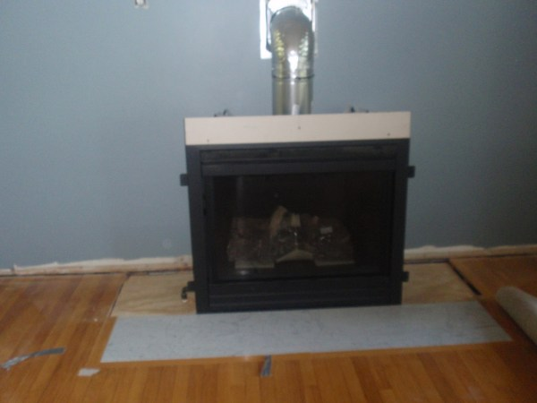 Living Room Remodel, Adding a Fireplace and Built in Bookshelves (6)