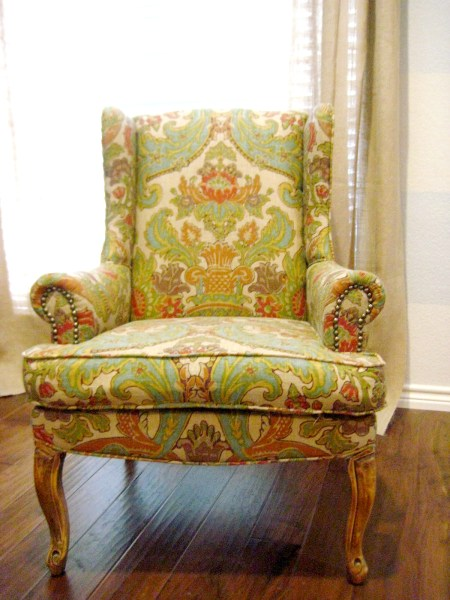 hints for recovering a wingback chair (1)