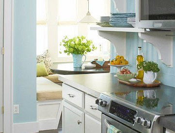 tuquoise-kitchen-with-open-shelving-bead-board-backsplash