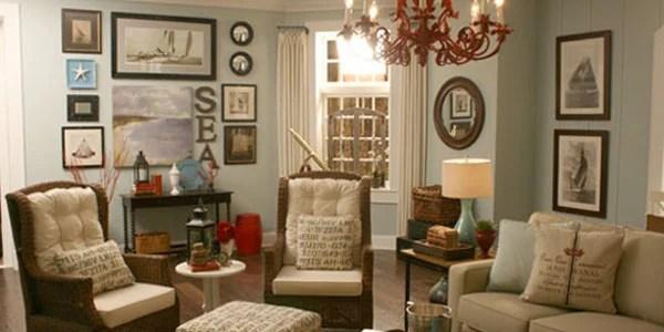 White Laguna Beach Living Room
