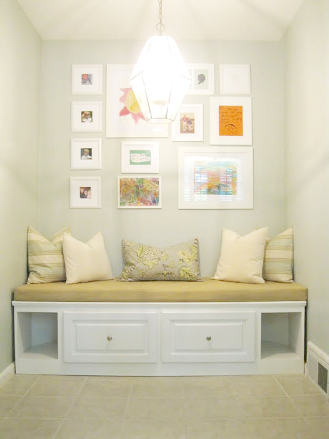 Remodelaholic Built In Banquette From Recycled Cabinet