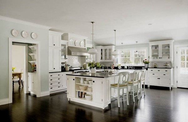 3 Beautiful white kitchen idea, by My Uncommon Slice of Suburbia featured on @Remodelaholic