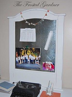 crib siding turned magnet board repurpose project unique idea remodelaholic.com